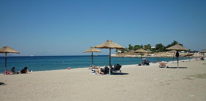 Пляж в Глифаде, Афинское Побережье, Греция